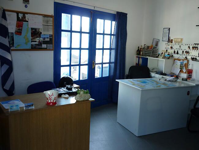 motorbike rental office in Karpathos